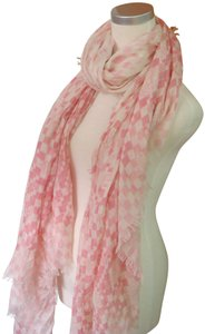 Louis Vuitton x Supreme Louis Vuitton Silk and Cashmere Shawl Stole Pink and White