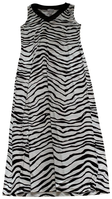 Item - Brown and Cream White Zebra Like New Long Casual Maxi Dress Size 2 (XS)