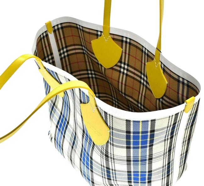 Item - Giant Reversible Large Canvas Yellow Cotton Tote