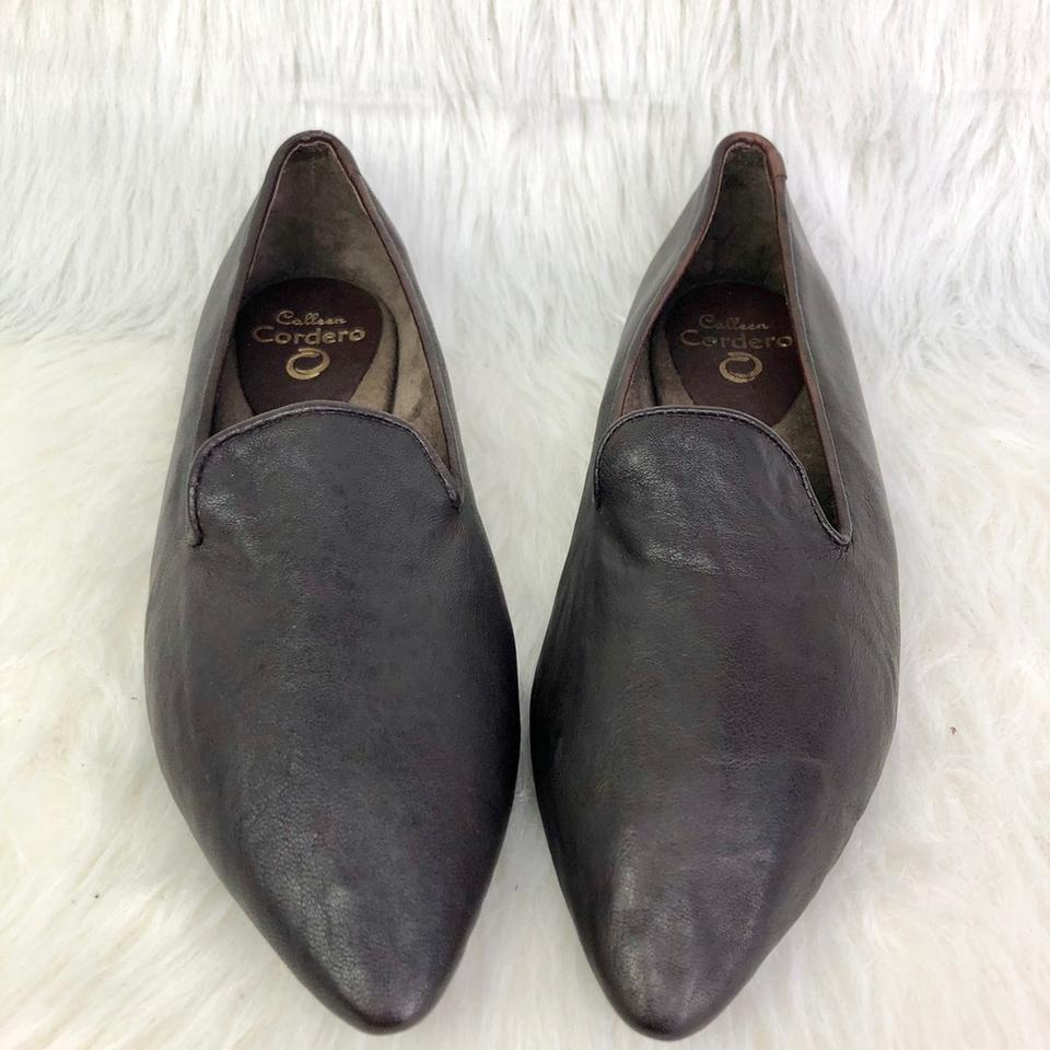 various styles cheapest new product Calleen Cordero Brown Pointed Toe Smoking Loafers Flats Size US 11 ...