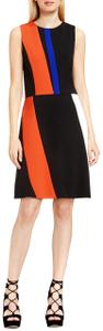 Vince Camuto Color-blocking Sleeveless Stretchy Structured Retro Dress