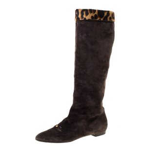 Louis Vuitton Suede Leather Brown Boots