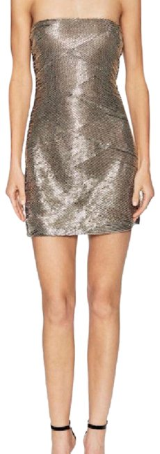Item - Gray Pewter Beaded Short Night Out Dress Size 8 (M)