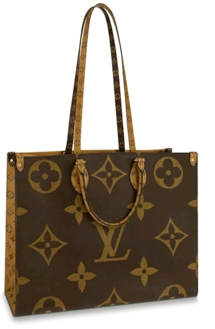 Item - Onthego Gm Tote Made In Italy Rare Brown Havana Monogram Canvas and Monogram Reverse Canvas Shoulder Bag