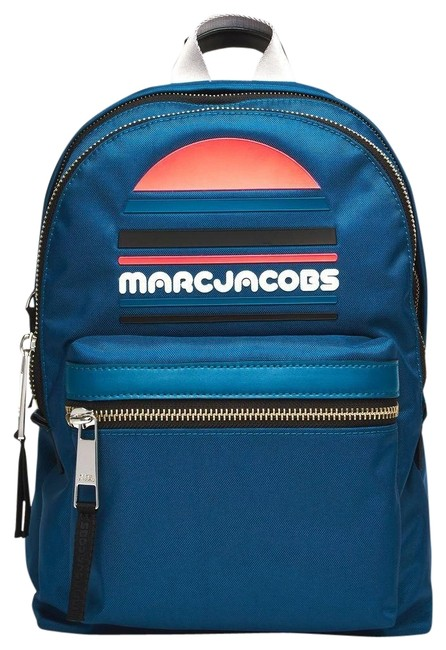 Marc Jacobs Trek Pack Sport Logo Medium Blue Nylon Backpack Marc Jacobs Trek Pack Sport Logo Medium Blue Nylon Backpack Image 1