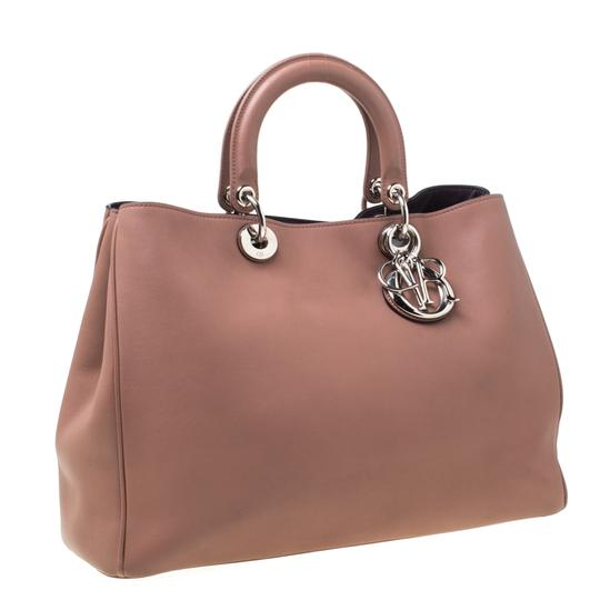 Dior Leather Tote in Pink Image 2