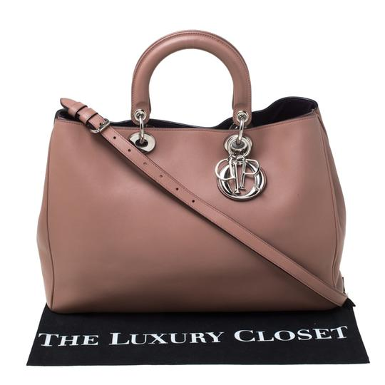 Dior Leather Tote in Pink Image 7
