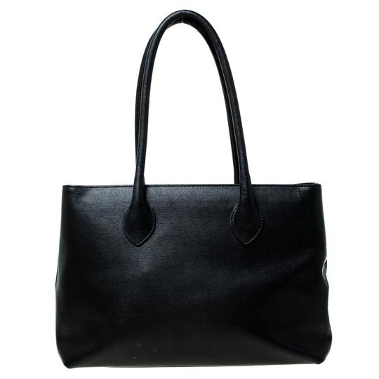 Furla Leather Fabric Tote in Black Image 1