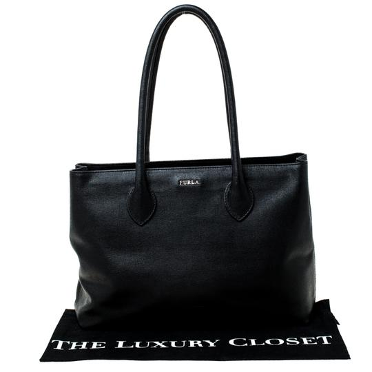 Furla Leather Fabric Tote in Black Image 10