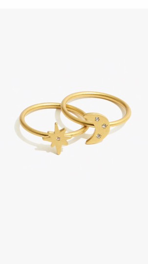 Madewell Spaced Out Ring Set Image 2