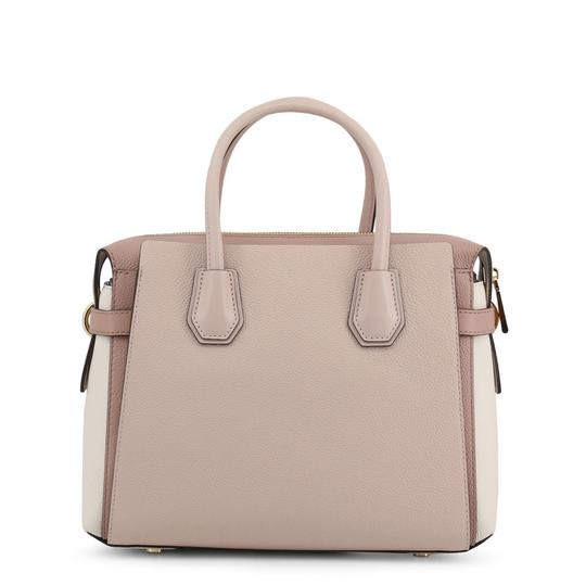 Michael Kors Pebbled Leather Color-blocked Belted Satchel in Pink Image 2