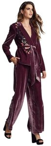 Free People New Free People Perfect Illusion Wide Leg Crushed Velvet PantSuit $458