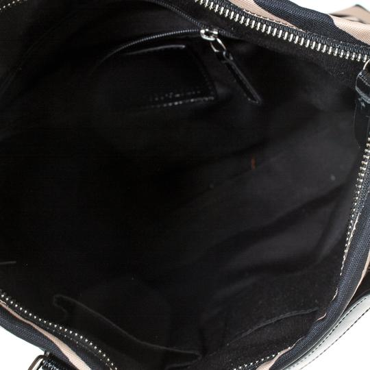 Coach Canvas Patent Leather Tote in Black Image 5