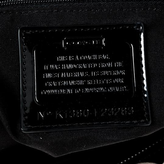 Coach Canvas Patent Leather Tote in Black Image 9