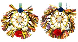 Dolce&Gabbana Dolce and Gabbana Multicolor PomPom & Tassel Over-sized Earrings