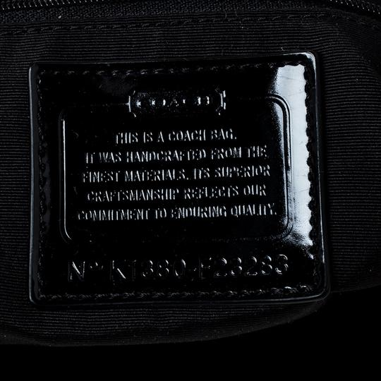 Coach Canvas Patent Leather Tote in Black Image 6
