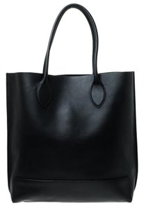 Mulberry Leather Unlined Tote in Black