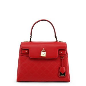 Michael Kors Leather Chain-embossed Chain Strap Gramercy Satchel in Red