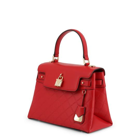 Michael Kors Leather Chain-embossed Chain Strap Gramercy Satchel in Red Image 1