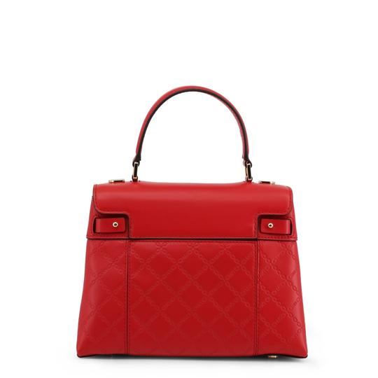 Michael Kors Leather Chain-embossed Chain Strap Gramercy Satchel in Red Image 2
