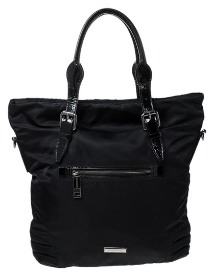 Preload https://img-static.tradesy.com/item/26116139/burberry-front-pocket-black-nylon-and-patent-leather-tote-0-1-540-540.jpg