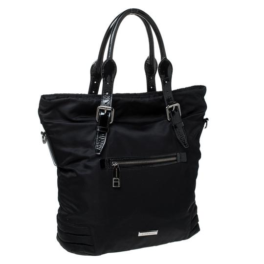 Burberry Nylon Patent Leather Tote in Black Image 1