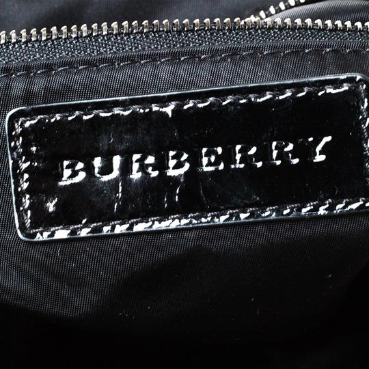 Burberry Nylon Patent Leather Tote in Black Image 9