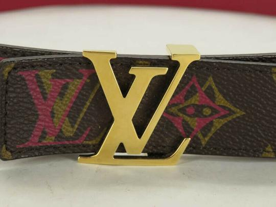 Louis Vuitton AUTH LOUIS VUITTON M9794 MONOGRAM LV BUCKLE CEINTURE BELT Image 1