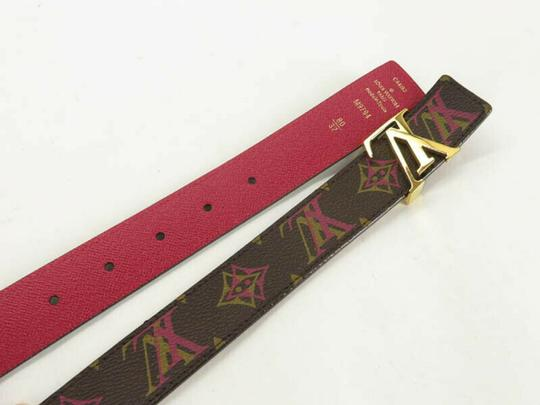 Louis Vuitton AUTH LOUIS VUITTON M9794 MONOGRAM LV BUCKLE CEINTURE BELT Image 4