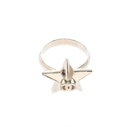 Chanel CC Star Gold Tone Ring Size 50.5 Image 1