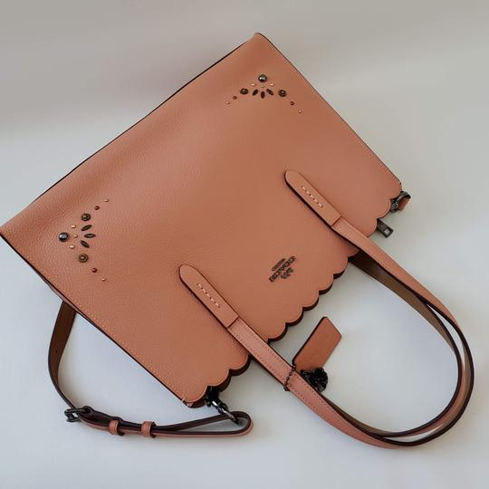 Coach Shoulder Leather Studded Scalloped Studs Jewelled Cross Body Bag Image 3