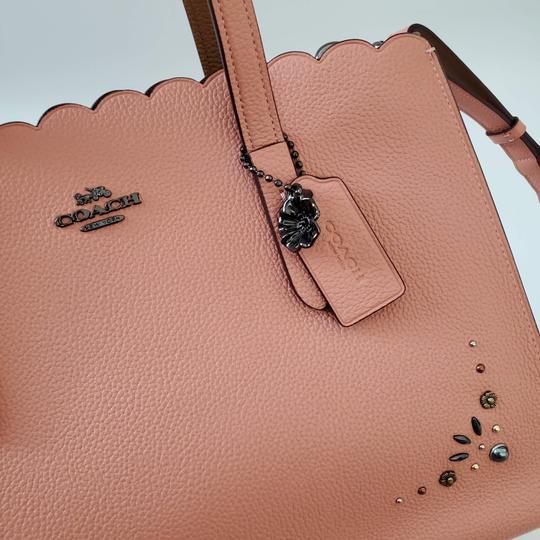 Coach Shoulder Leather Studded Scalloped Studs Jewelled Cross Body Bag Image 7