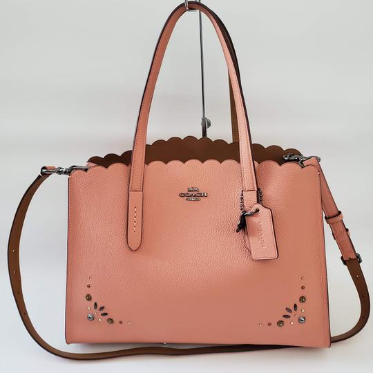 Coach Shoulder Leather Studded Scalloped Studs Jewelled Cross Body Bag Image 9