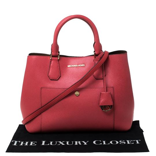 Michael Kors Leather Tote in Red Image 10