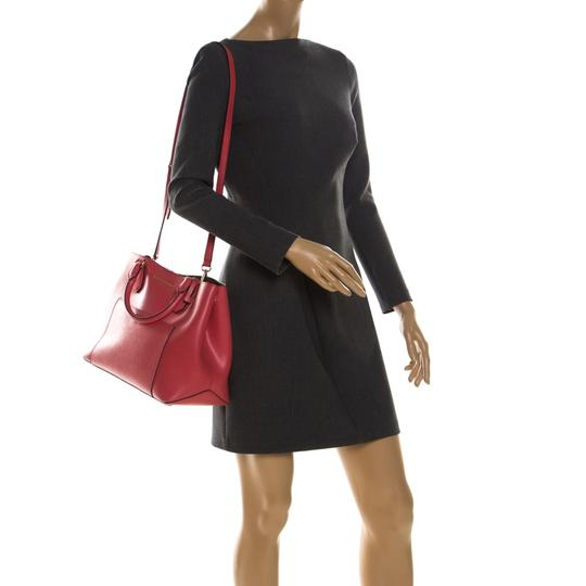 Michael Kors Leather Tote in Red Image 2