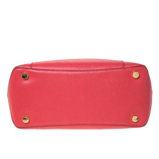 Michael Kors Leather Tote in Red Image 3