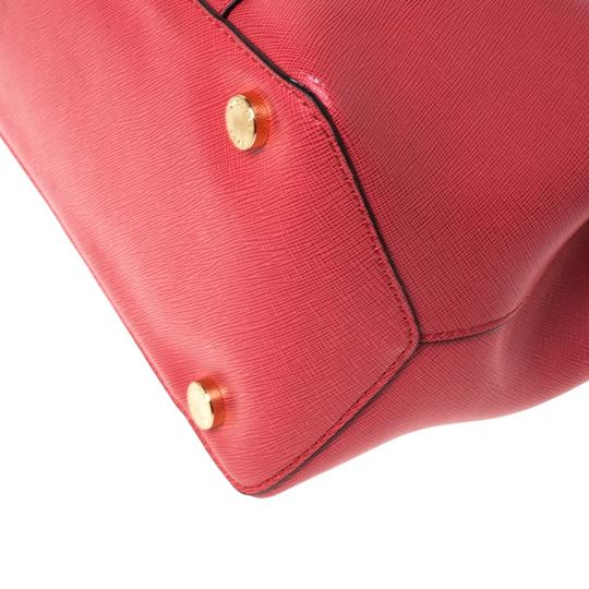 Michael Kors Leather Tote in Red Image 4