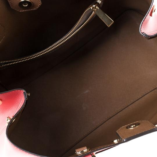 Michael Kors Leather Tote in Red Image 5