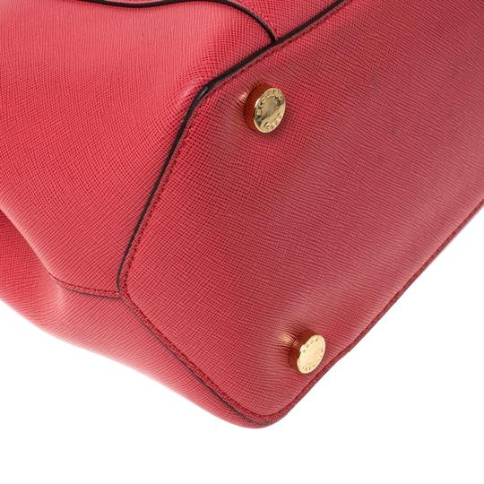 Michael Kors Leather Tote in Red Image 6