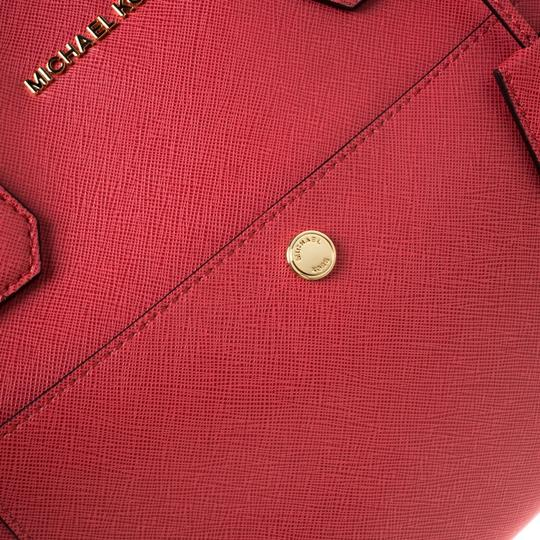 Michael Kors Leather Tote in Red Image 8