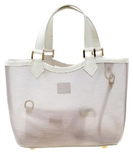 Louis Vuitton Leather Tote in White