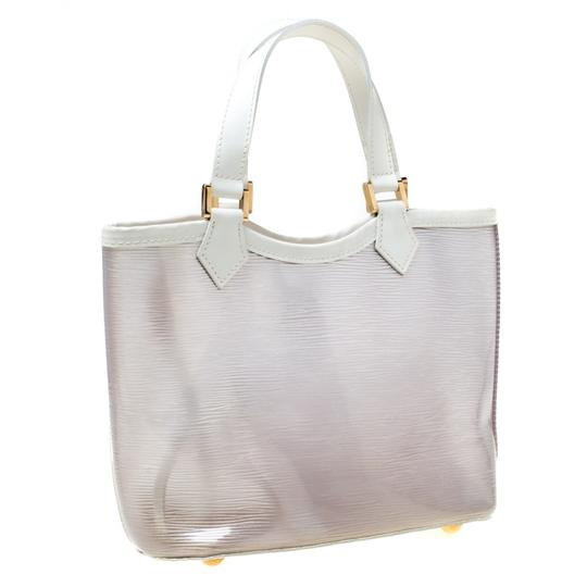 Louis Vuitton Leather Tote in White Image 2