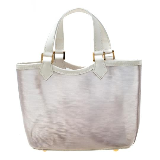 Louis Vuitton Leather Tote in White Image 4