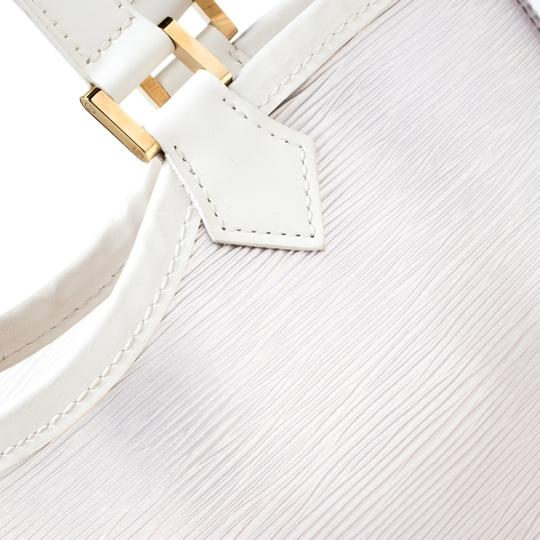 Louis Vuitton Leather Tote in White Image 7