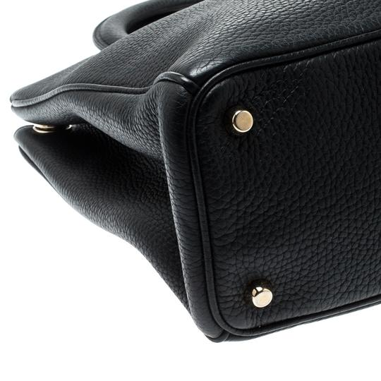 Dior Leather Tote in Black Image 4
