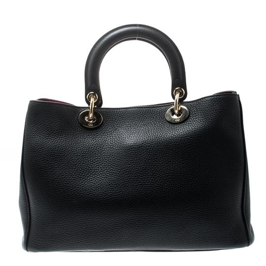 Dior Leather Tote in Black Image 7