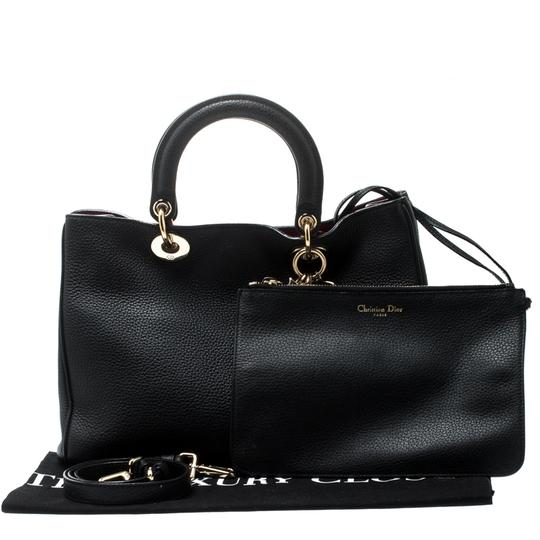 Dior Leather Tote in Black Image 8