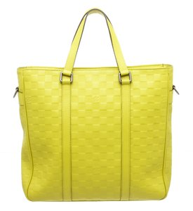 Louis Vuitton Tote in Neon Yellow