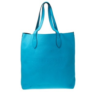 Burberry Leather Suede Tote in Blue