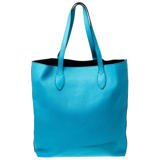 Burberry Leather Suede Tote in Blue Image 1